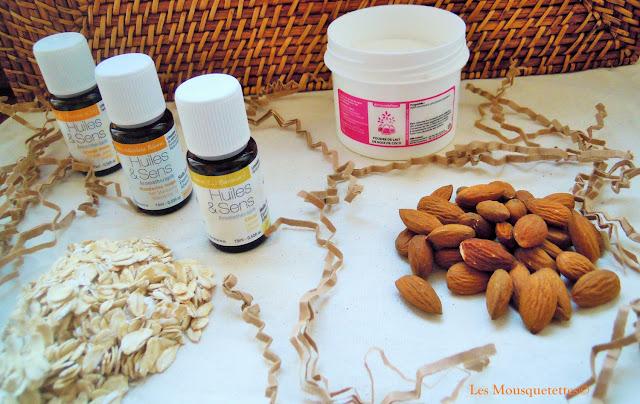 Les ingrédients pour réaliser la recette cosmétique - Les Mousquetettes©