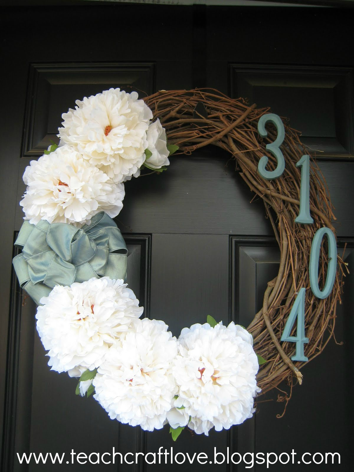 Teach craft love front door wreaths for Baby shower front door decoration ideas