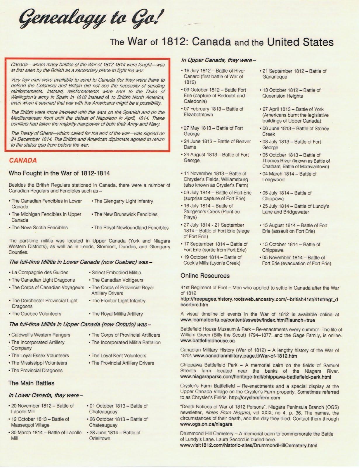 Genealogy Canada Booklet 1
