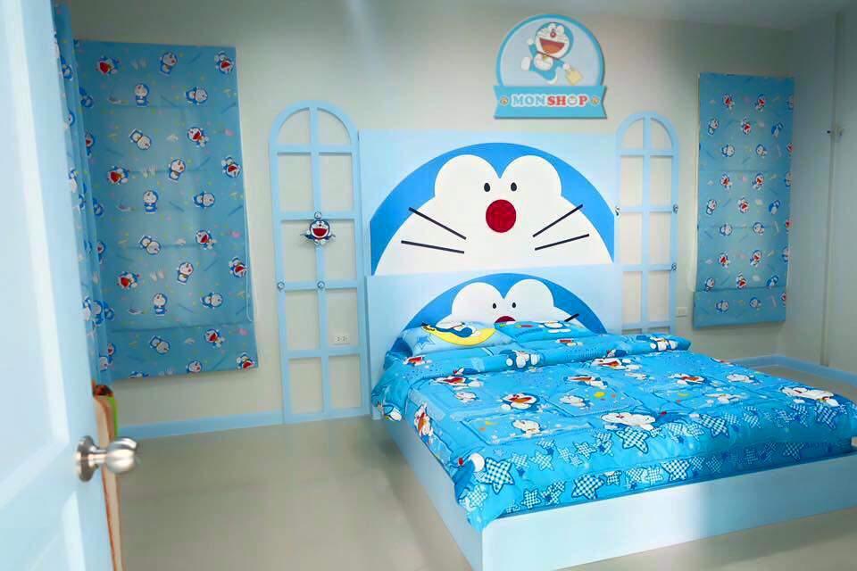 desain kamar tidur tema doraemon