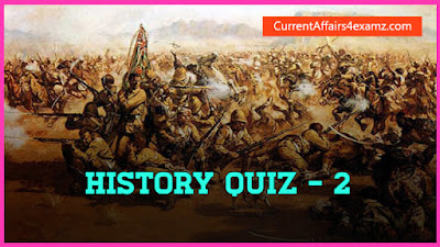 History Quiz for SSC CGL 2016