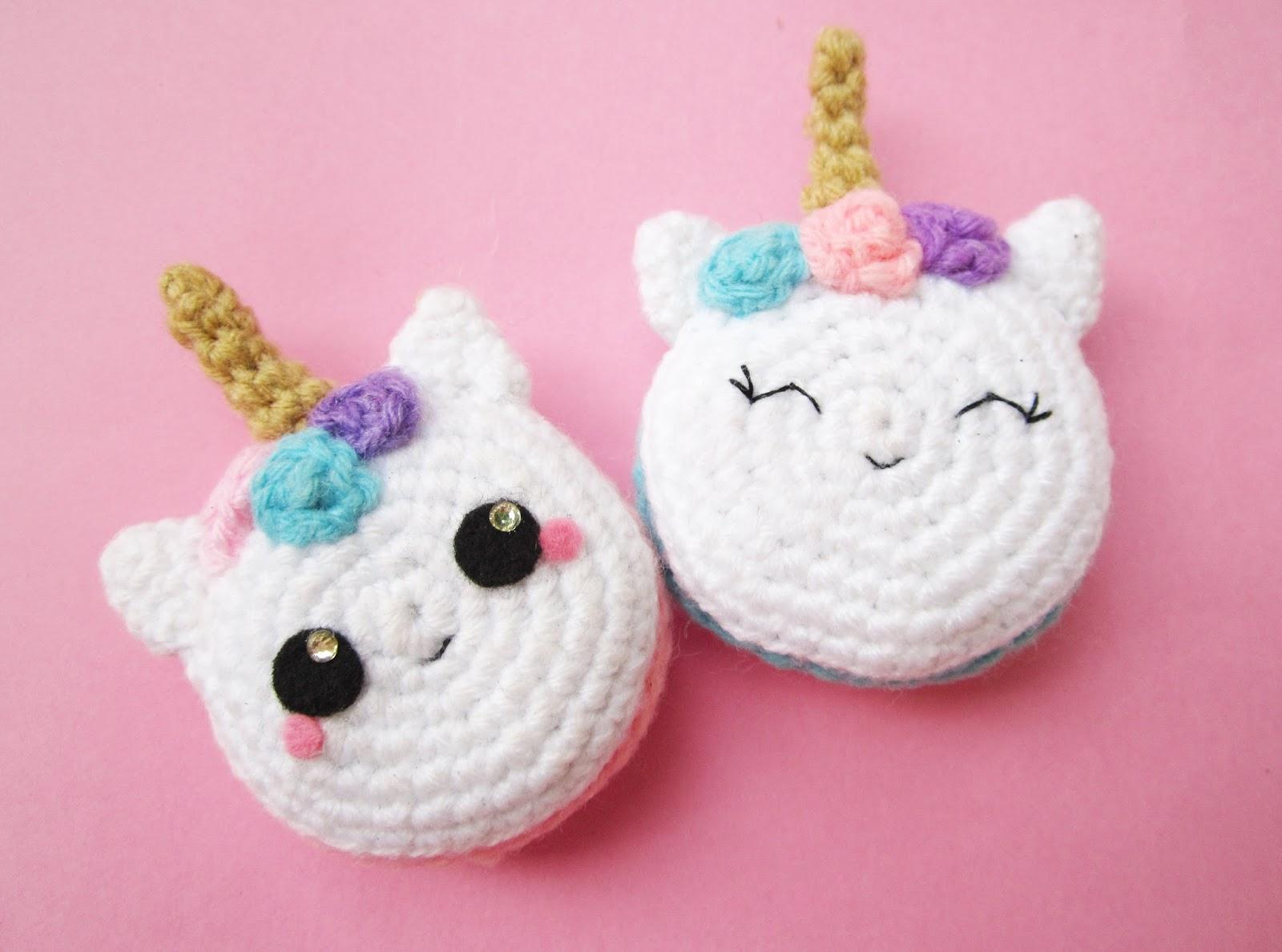 Crochet amigurumi unicorn with rainbow mane, her name is Marla ... | 1188x1600