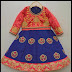 Blue Heavy Zardosi lehenga Full Sleeves Blouse