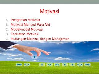 Arti dan Model Motivasi
