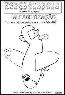 Desenho de avião e dia da criança