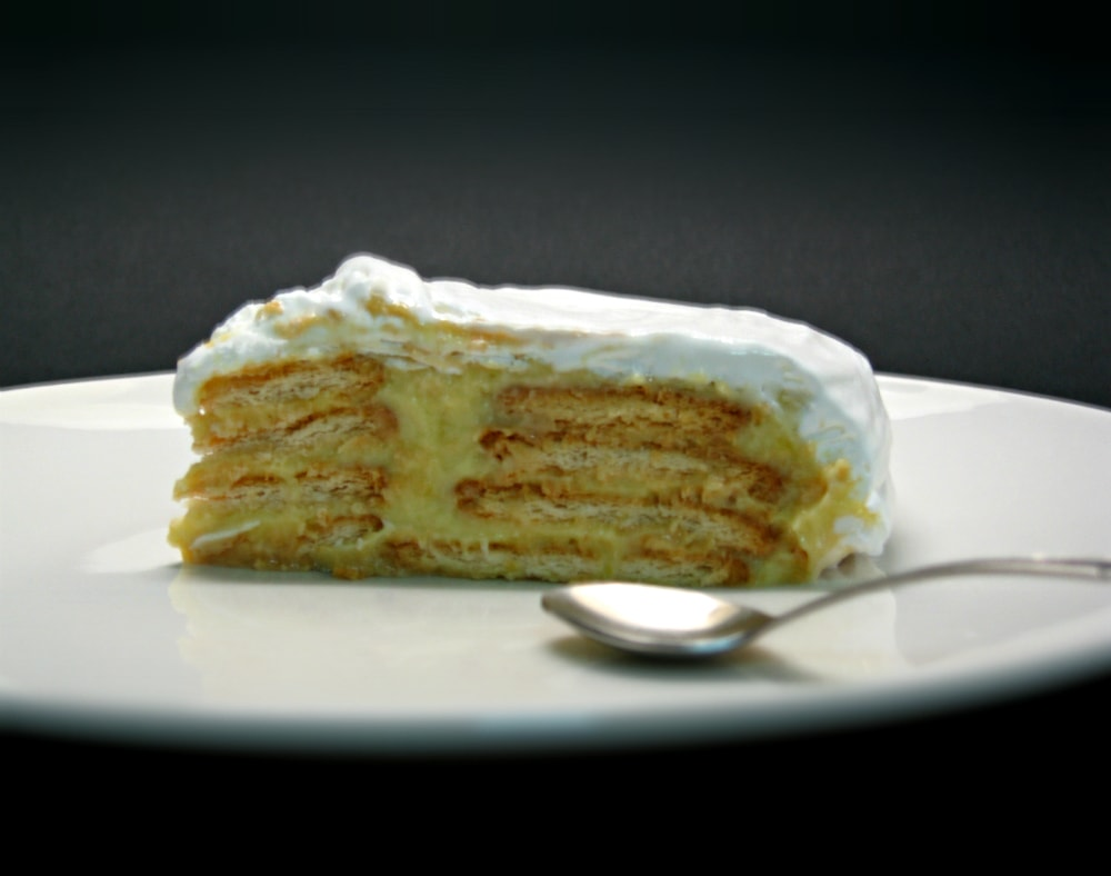 Bolo de bolacha, baunilha e chocolate branco / Vanilla & white chocolate cookie cake