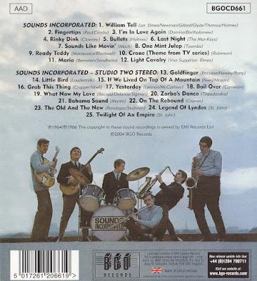 Sounds Incorporated - Sounds Incorporated (1964) & Studio 2 Stereo (1966)