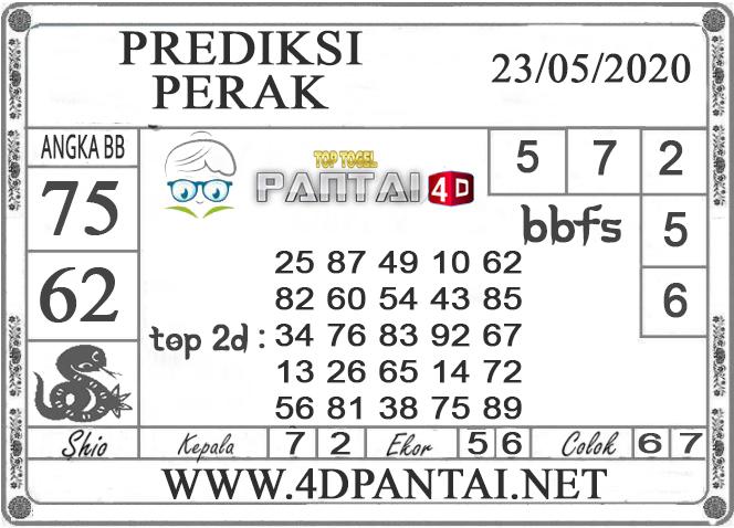 PREDIKSI TOGEL PERAK PANTAI4D 23 MEI 2020