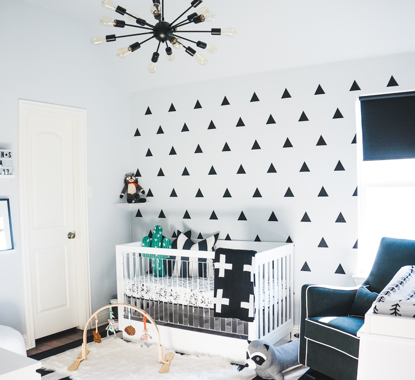 the millennial mama ashton 39 s monochrome nursery. Black Bedroom Furniture Sets. Home Design Ideas