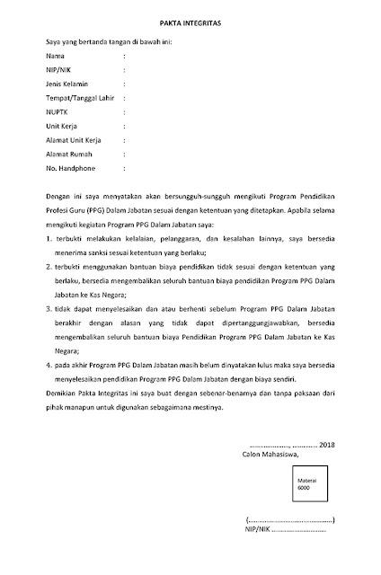 Konfirmasi Kesediaan bagi calon PPG tahap III