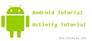 Android activity tutorial
