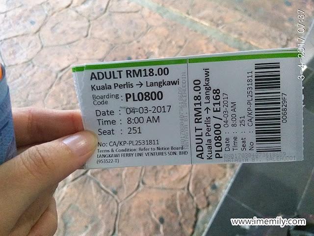 kuala perlis to langkawi ferry ticket