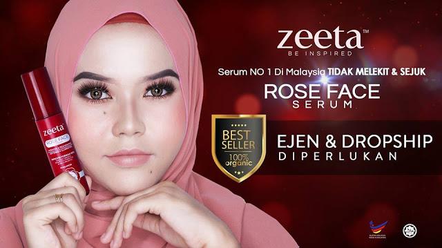 ROSE FACE SERUM ZEETA | CARA HILANGKAN PARUT JERAWAT 2017