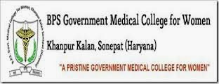 BPS Medical College Recruitment 2014