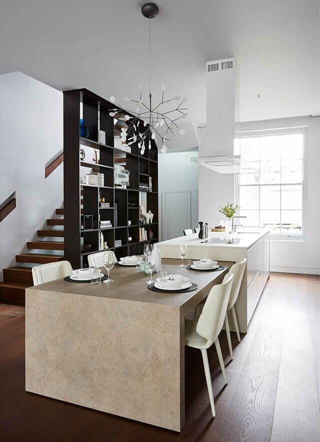 5 soluciones de islas de cocina con mesa para comer for Isla cocina comedor