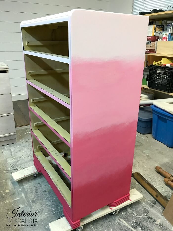 Pink Ombre Waterfall Dresser Four Gradient Pink Colors