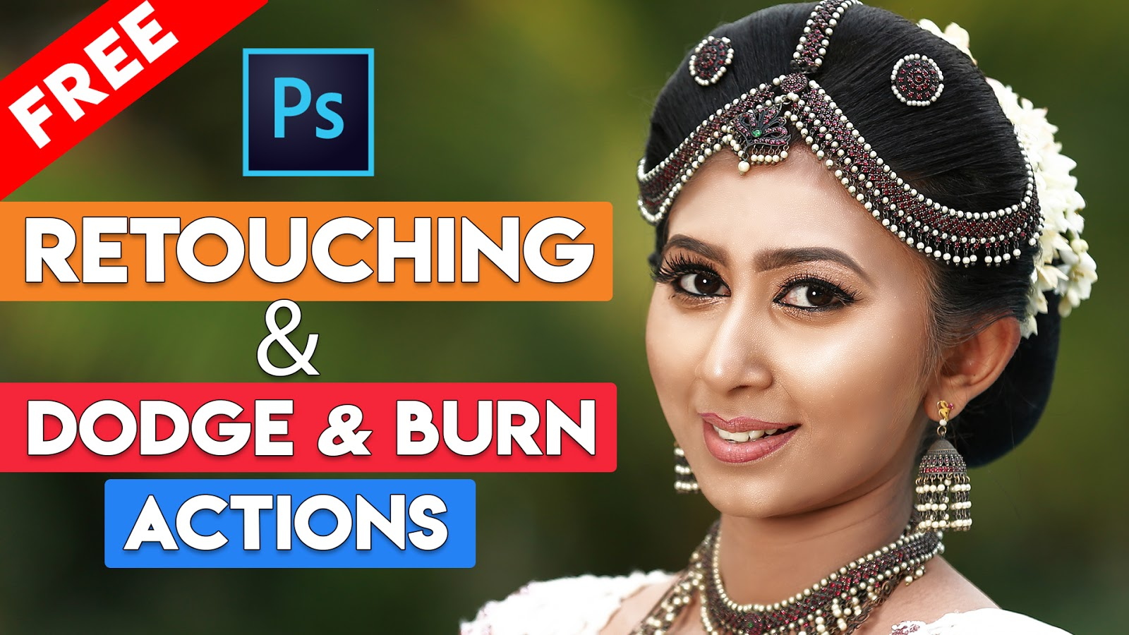 How to Simple Dodge and Burn and Retouching Skin Free