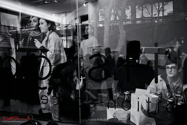 Outside looking in at Mils gallery. Street Fashion Sydney by Kent Johnson.