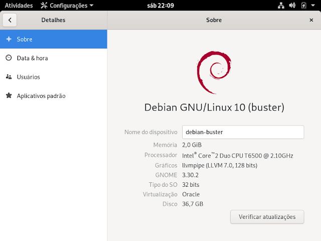 Debian Buster - Instalação limpa - Dicas Linux e Windows