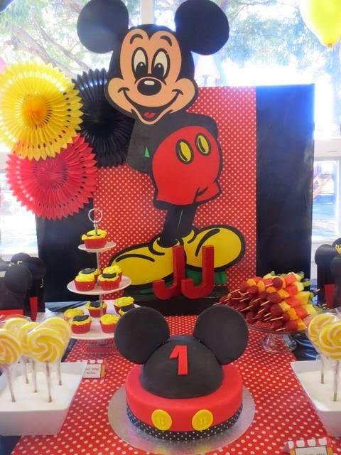 Decoraci n de fiestas infantiles de mickey mouse fiestas for Mesa de cumpleanos de mickey