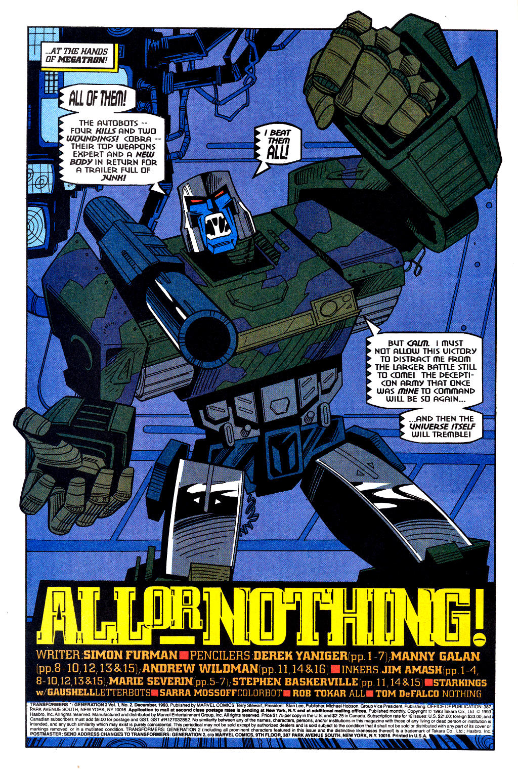 Read online Transformers: Generation 2 comic -  Issue #2 - 3