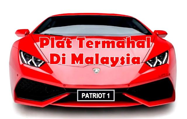 Huruf Plat Pendaftaran Kenderaan Termahal di Malaysia