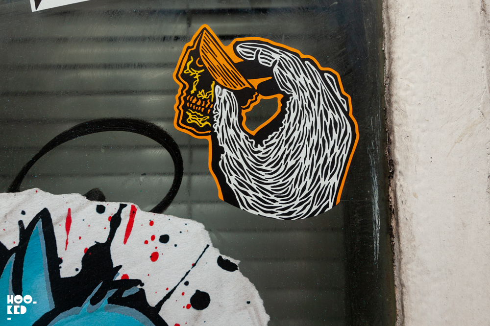 Stick it up: Shoreditch Street Art Stickers featuring RxSkull