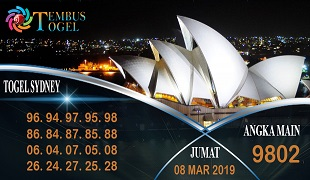 Prediksi Angka Togel Sidney Jumat 08 Maret 2019