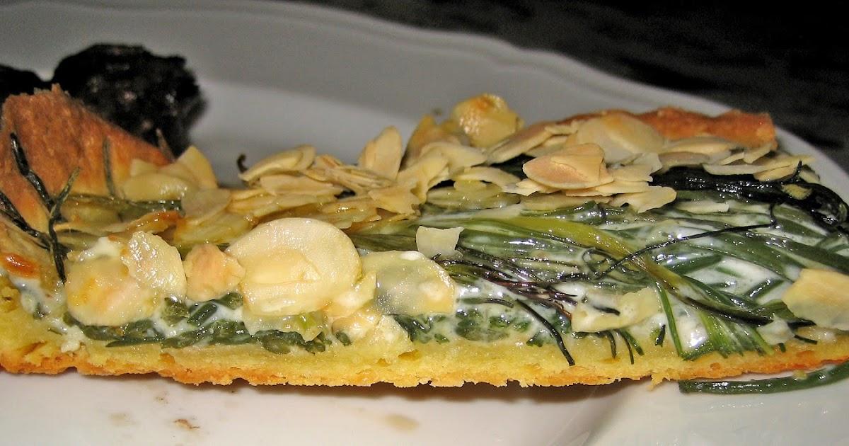 Il mondo di luvi torta salata con agretti e mandorle for Cucinare gli agretti