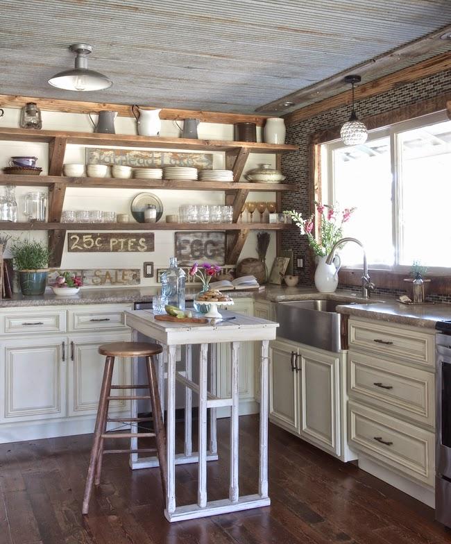 Country Kitchen Employment: Vintage Whites Blog: Renovated Rustic Montana Farmhouse
