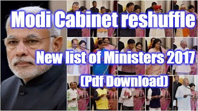 Updated Indian Minister and Portfolio list