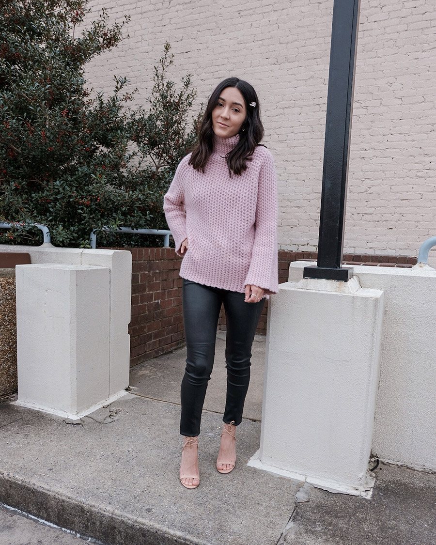 chunky knit sweater outfit ideas, cute winter outfits to try now
