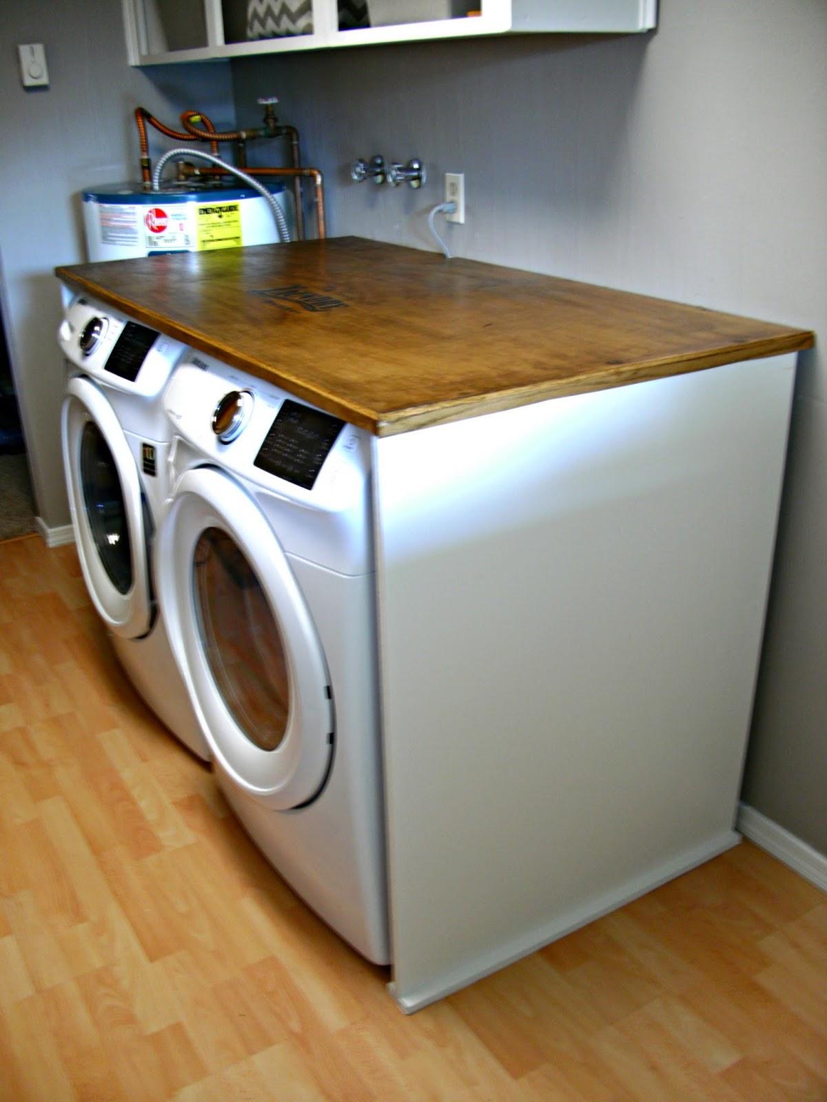 Laundry Room Redo - DIY Laundry Folding Table - Little ...