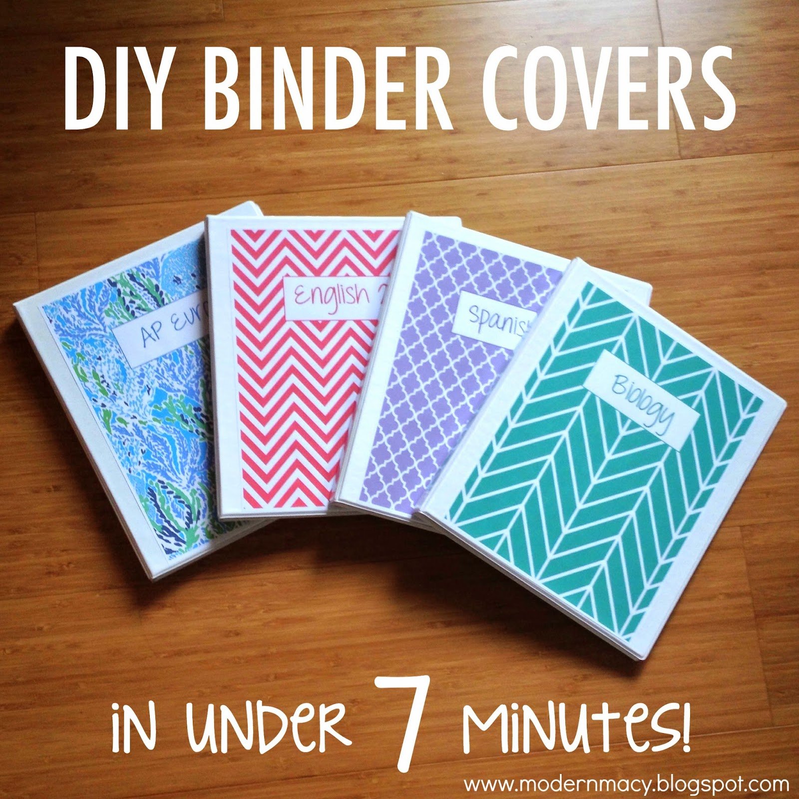 Modern Macy: DIY Binder Covers For School