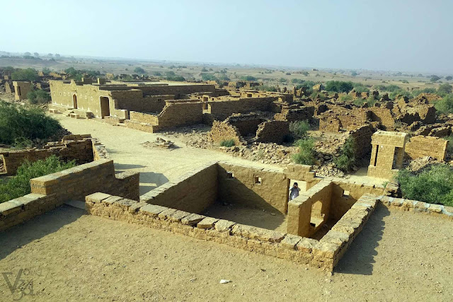 The remains of the abandoned village of Kuldhara