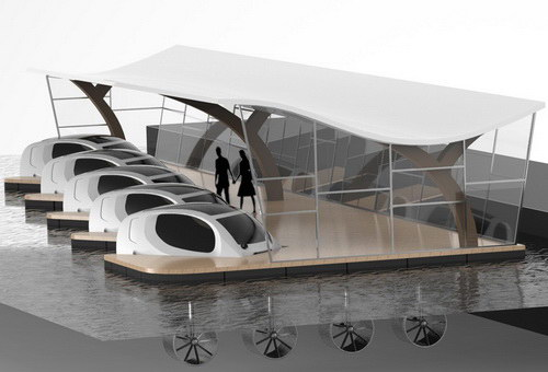 Tinuku.com Alain Thebault and Anders Bringdal realize SeaBubbles as water taxis in the urban water landscape