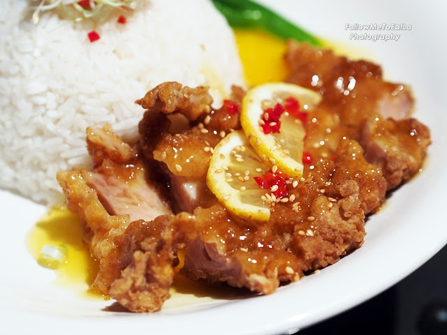Lemon Chicken Chop With Rice & Seasonal Vegetable
