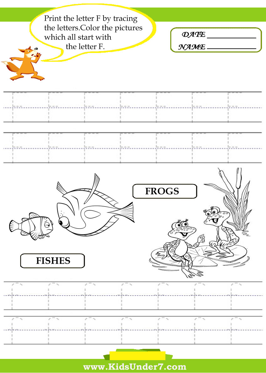 Letter F Tracing Worksheet