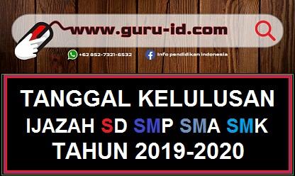 GAMBAR TANGGAL KELULUSAN SD SMP SMA SMK 2020