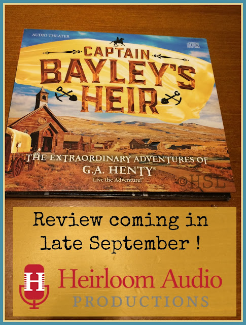 Heirloom audio productions, captain baileys heir, US gold rush, audio dramas