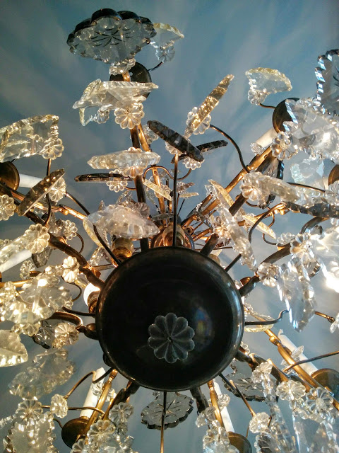 Chandelier at the Radisson Blue Plaza Hotel in Helsinki, Finland