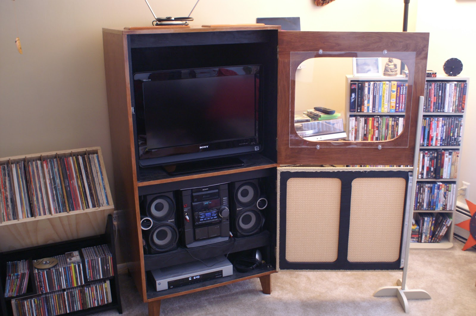 Retro Tv Cabinet Retro T V Cabinet Inspired By Make Magazine Article Project