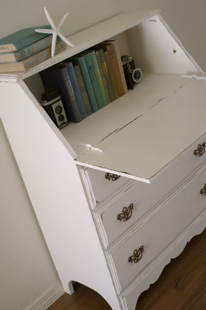Shabby Secretary Desk & DIY Chalk Paint