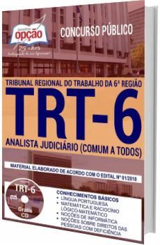 Apostila TRT 6ª Região 2018 Analista Judiciário