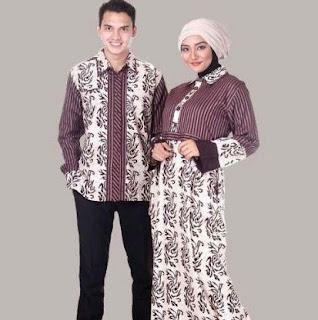 Model gamis batik pasangan anak muda terkini