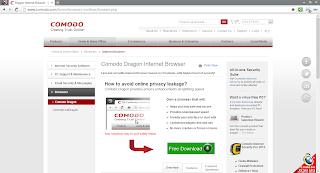 Comado Dragon secure internet browser
