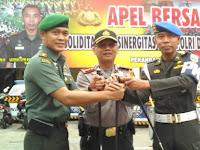 Dandim Pekanbaru Pimpin Sinergitas TNI-Polri