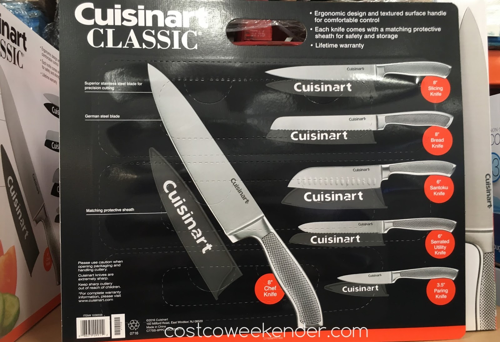 Costco 1036556 - Cuisinart Graphix 6-piece Knife Cutlery Set - great for home cook