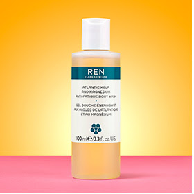 my midlife fashion, marks and spencer beauty box, ren atlantic kelp and magnesium anti-fatigue body wash