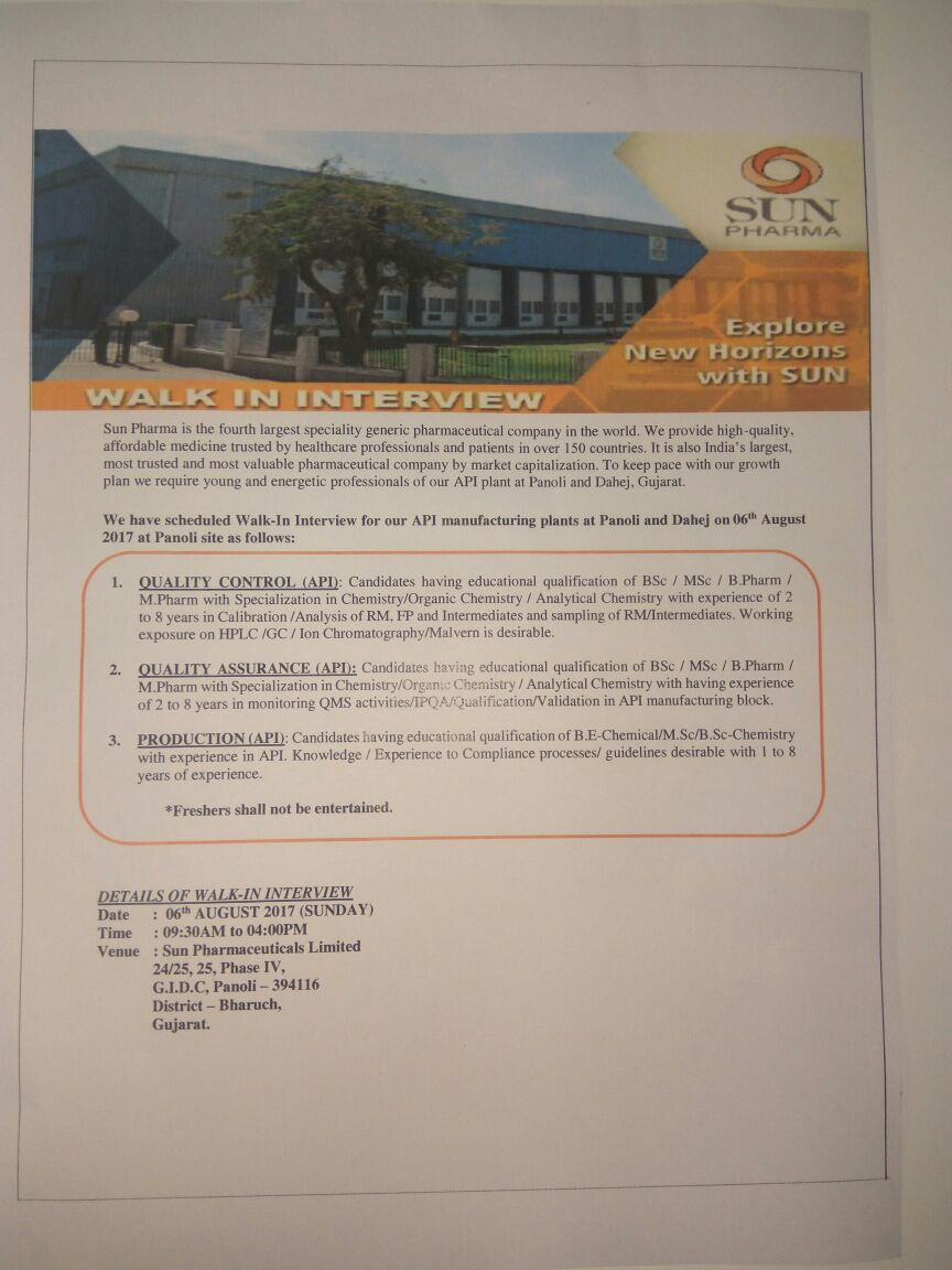 company analysis of sun pharma